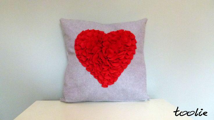 Oryginal Polish Handmade - felt pillow. The best gift for Valentine's Day!:) www.facebook.com/tooliepolska