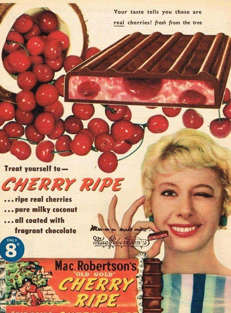 MacRobertson Cherry Ripe ~ Australia 1959.