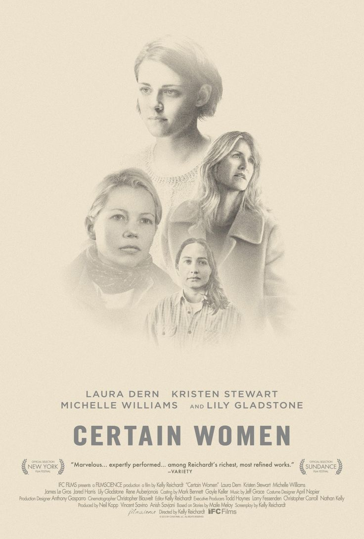 Certain Women (2016) - Kelly Reichardt - Brilliant film - a quiet study of 5 women's reactions to what life has thrown at them as only women would and can.