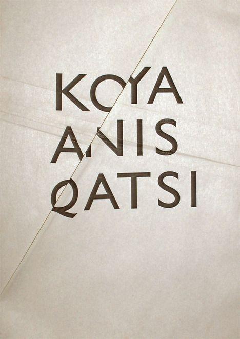 KOYAANISQATSI / movie poster / posters by gosia stolinska, via Behance