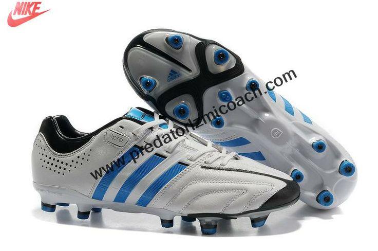 Best Gift Adidas adiPure 11Pro TRX FG - Running White-Bright Blue-Black Soccer Boots For Sale
