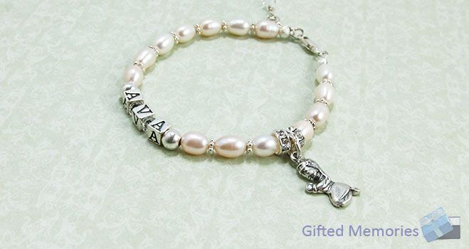 'Blessings' Personalised Name Bracelet. Find it at www.giftedmemoriesjewellery.com.au