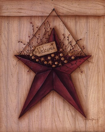 ... Welcome Barn Star Art Print by Mary Ann June at Urban Loft Art