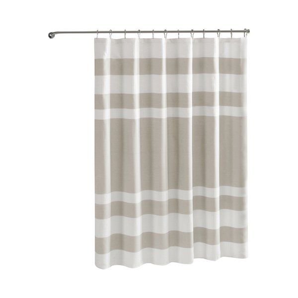 Merrick Striped Single Shower Curtain Shower Curtain Sizes