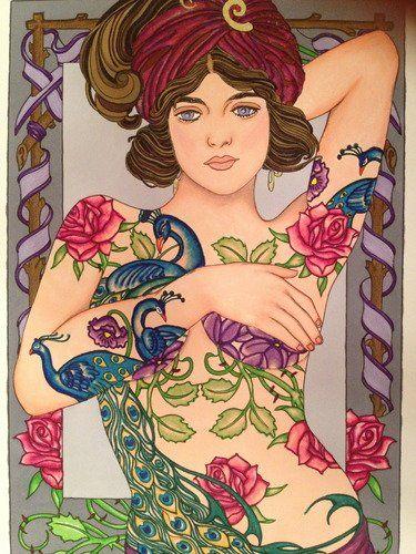 body art tattoo designs coloring book dover design coloring books marty noble - Body Art Tattoo Designs Coloring Book