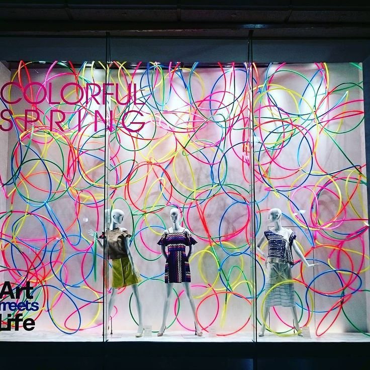 "SEIBU SHIBUYA, Japan, ""Colorful Spring... Art meets Life.... Hello Life!"", creative by Kengo Kito, pinned by Ton van der Veer"