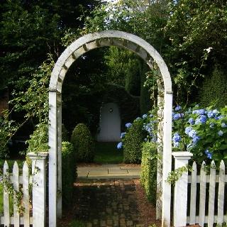 Front garden entrance