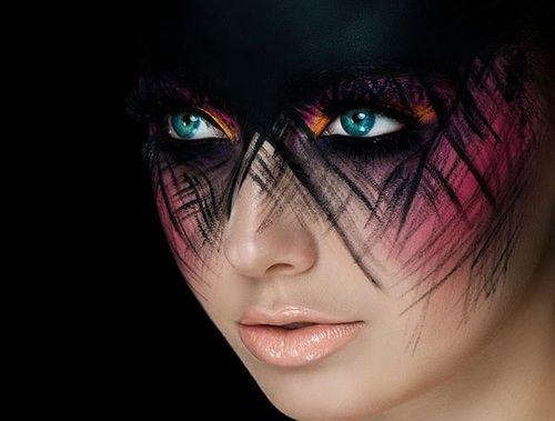 Idee per il trucco viso veloce per Halloween http://www.amazon.com/dp/B007FMC8I8/?tag=googoo0f-20 woman