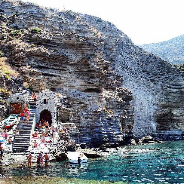 Ancient ruins..seaside villages..Pollara Beach, Salina, Sicily