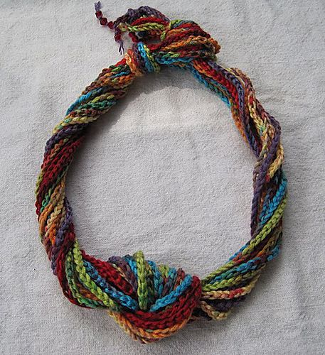 Crochet Chain : long crocheted chains Textile jewelry Pinterest