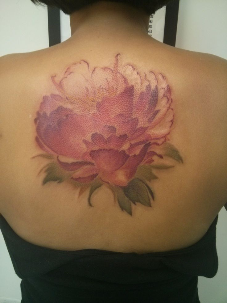 Peony Watercolor Flower Tattoos: My New Peony Watercolor Tattoo From Derek At Hartless