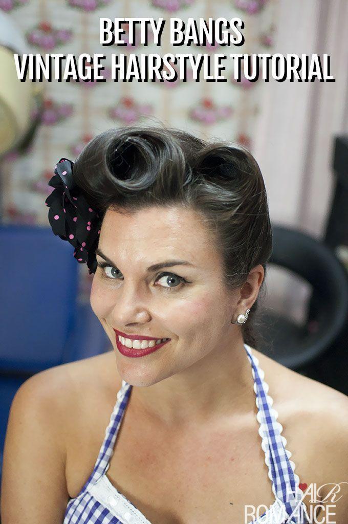 Betty knallt Vintage-Haar-Tutorial mit dem fabelhaften Miss Pixie - #bangs #betty #fabulous #pixie #tutorial