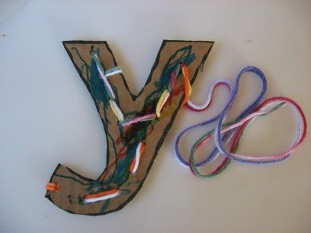 Letter of the week y craft