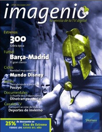 Portada de la Revista Imagenio en sus inicios en versión PDF OnLine.