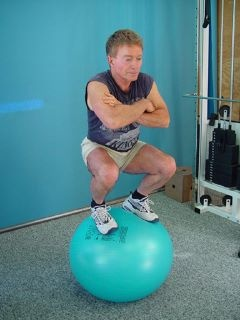 72 years old and Dr Michael Colgan can still do ball squats. AWESOME
