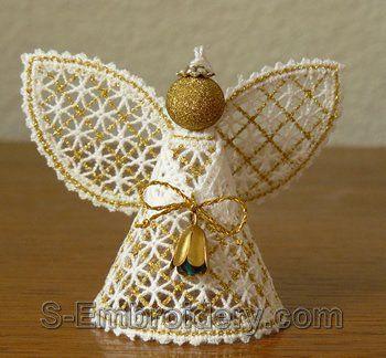10549 Battenberg lace Christmas angel