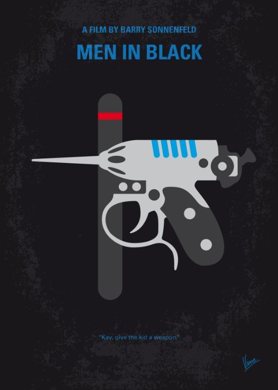 Men in Black (1997) ~ Minimal Movie Poster by Chungkong #amusementphile