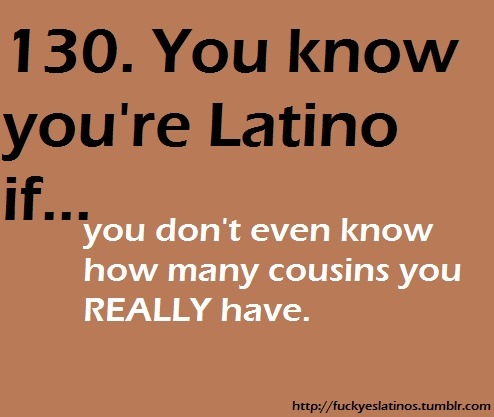 Oh man that list is never ending!! Some of my cousins don't even know how many brothers ans sisters they have!