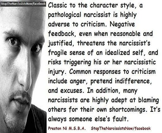 Narcissistic Injury .. leading to RAGE