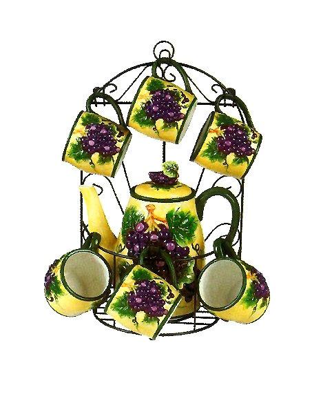 Grapes Tea Set Collection · Kitchen ThemesKitchen DecorKitchen ...
