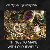 what to make with old jewelry: Rustic Crafts & Chic Decor