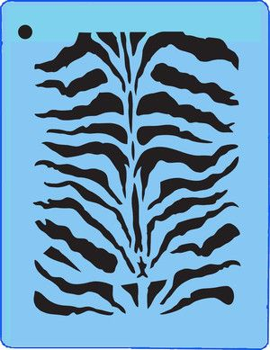 Plantilla cebra