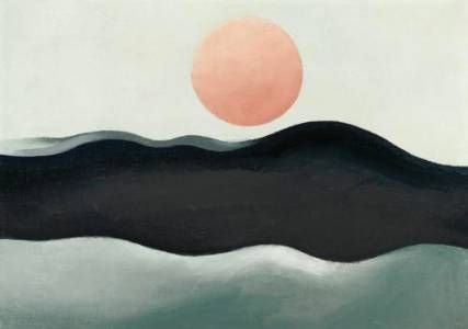 Georgia O'Keeffe - Sunset on Long Island