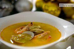 Receta de sopa de marisco