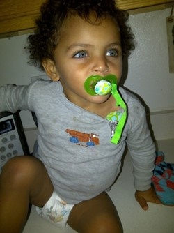 Oh my dear goodness, can my mixed babies come out this cute?!!? He is going to be suuuuch a ladies man...so gorgeous