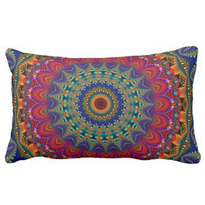 Kaleidoscope Psychedelic Mandala Throw Pillow - individual customized designs custom gift ideas diy