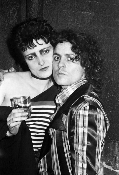 Siouxsie Sioux and Marc Bolan at Machine Music in London, 1976