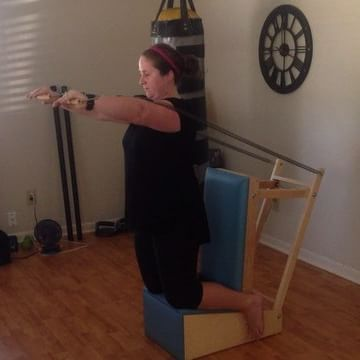 This is roll down on the baby chair - builds strength and stretches the back! It feels really great after a late night session of breaking it down to Ja Rule radio with my girlfriends.  I've been inspired by @thepilatesroom_chi for this exercise!