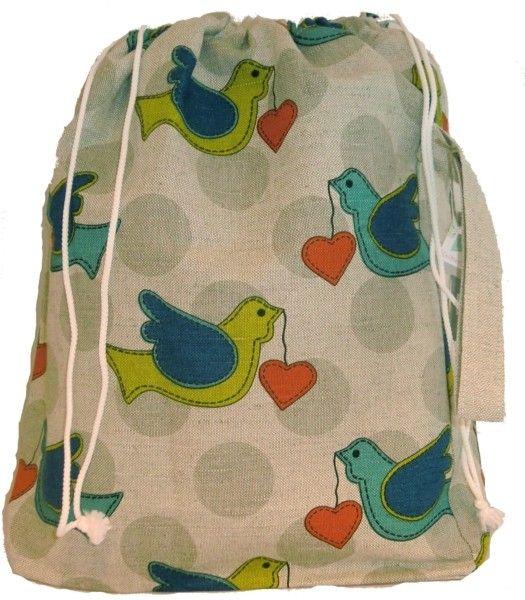 XL prosjektpose med kjærlighetsfugler | Garnkurven