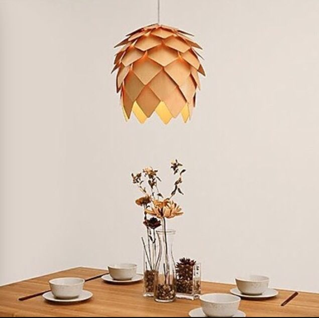 Creative Pine Cone Wooden Pendant Light Europen Hand Crafted Handmade Wood Hanging  Lamp Japanese For Bar Coffee Room * Check This Awesome Product By Going ...