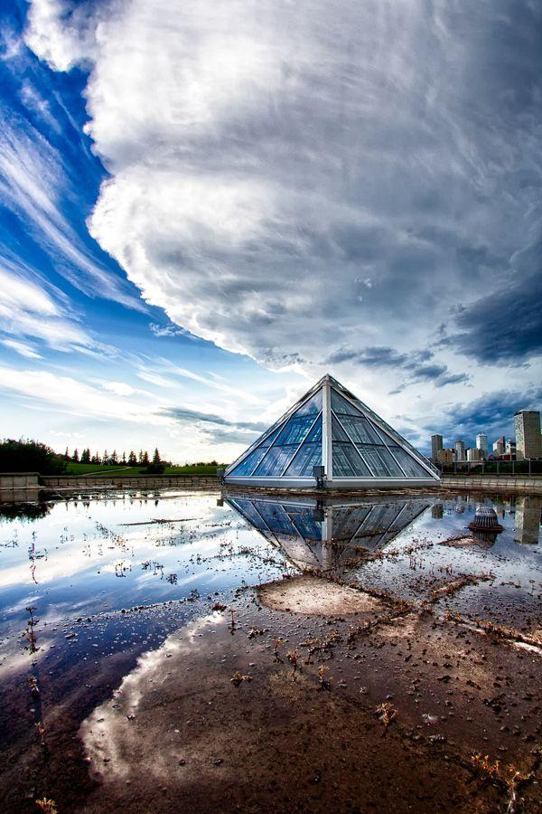 Storm Approaching, Muttart Conservatory, Edmonton, Alberta, Canada | by Scott Prokop via 500px