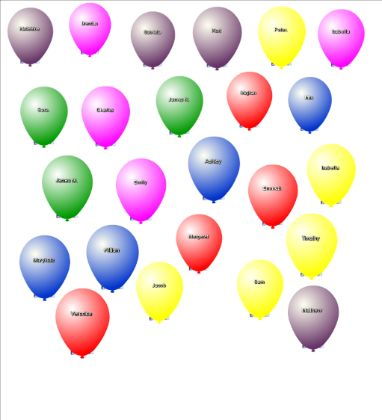 Balloon Pop Attendance: Have the students check in on the smart board when they come into class!