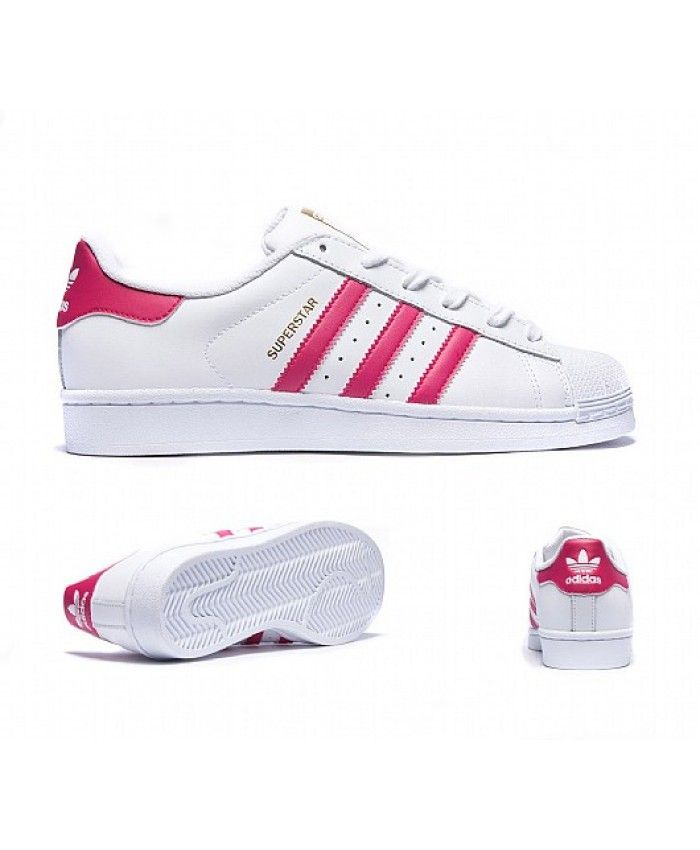 623fafef74cb Fashion Adidas Superstar Womens Pink Lace-Up Trainers T-1363 ...