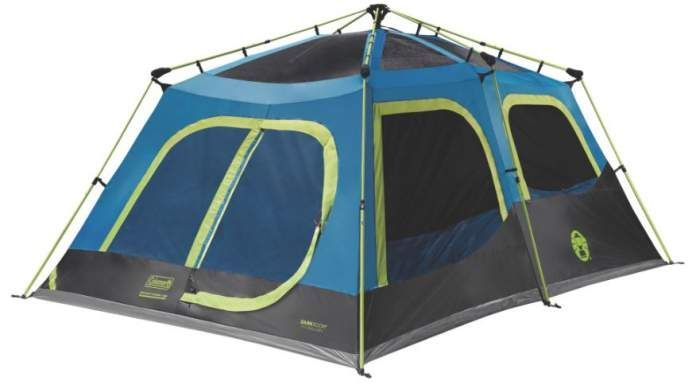 Coleman Cabin Tent With Instant Setup 10 Person Dark Rest Hinged Door Cabin Tent Tent Cool Tents