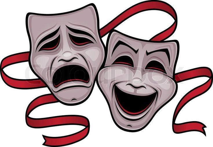 Illustration of entertainment mask on white background | Vector ...