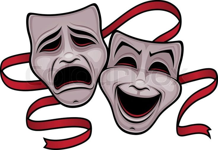 Illustration of entertainment mask on white background | Vector ...