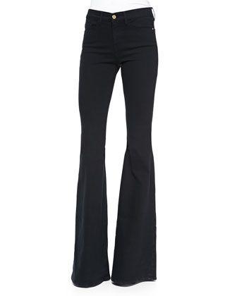 Forever Karlie Flared-Leg Denim Jeans, Film Noir by FRAME at Neiman Marcus.