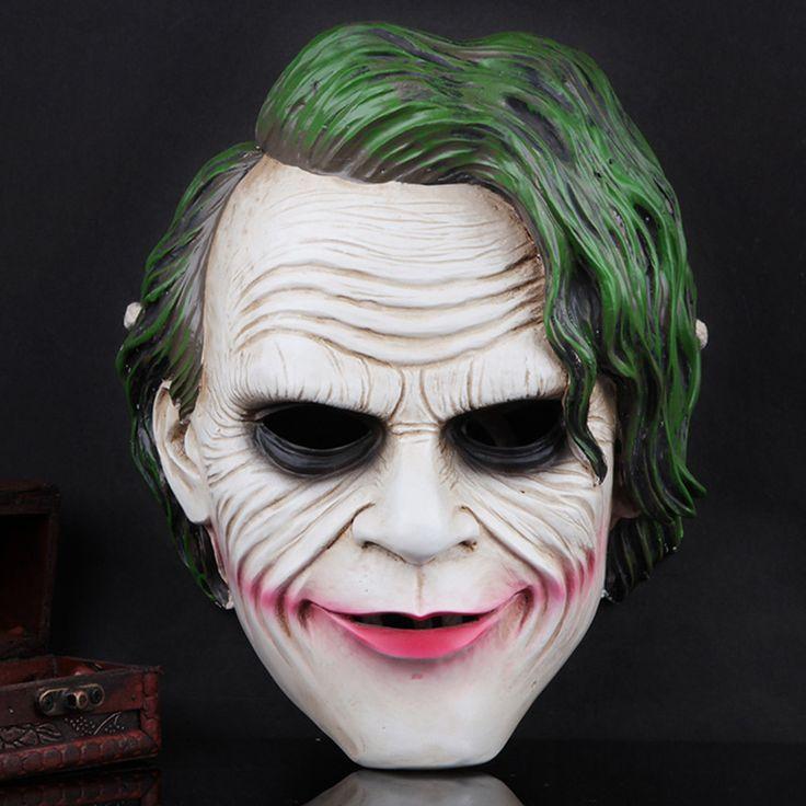 The Dark Knight Theme Joker Mask Resin Cosplay Costume Masquerade Kit Mask Men Women Full Face Halloween Horror Party Masks