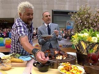 Guy Fieri's brick chicken, grilled chili lime corn, moreBrick Smoker Grill, Dry Rubs, Guy Fieri, Bricks Chicken, Crack Black, Guys Fieri, Fieri Bricks, Chilis Limes, Grilled Chilis