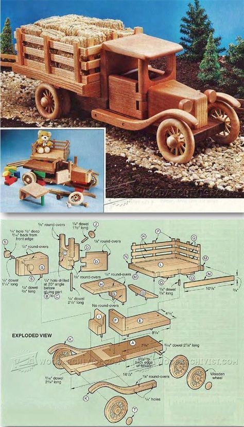 Wooden Toy Truck Plans - Wooden Toy Plans and Projects | http://WoodArchivist.com