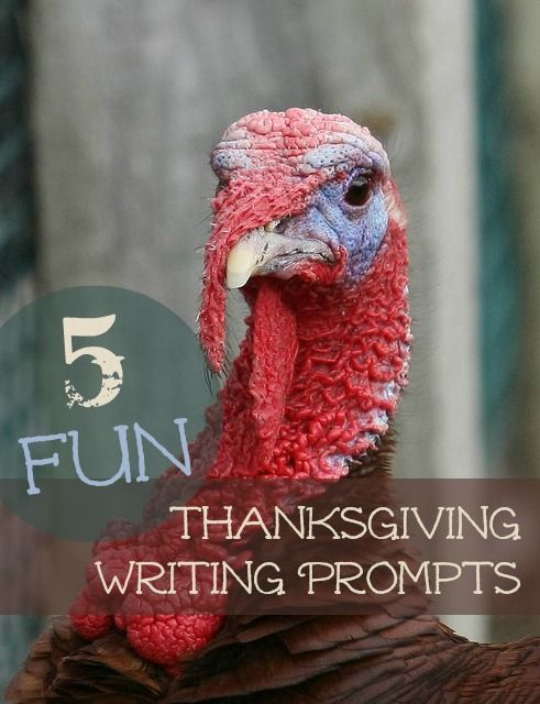 5 Fun Thanksgiving Writing Prompts - some cute ideas for the weeks leading up to Thanksgiving via @WriteShop. #writing #homeschool