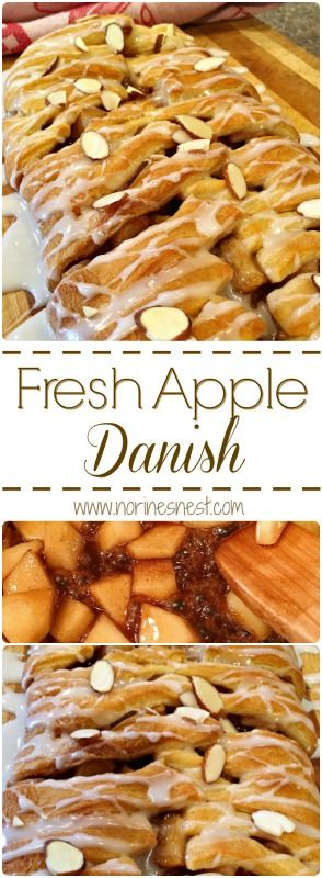 Fresh Apples and rich brown sugar and butter make up the filling for this simple yet delicious Apple Danish. Using Pillsbury Crescent roll dough makes it a cinch to whip up! It's apple-licious!