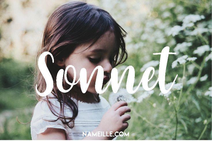 Sonnet I Boho & Earthy Names for Girls I Baby Names I Namielle.com