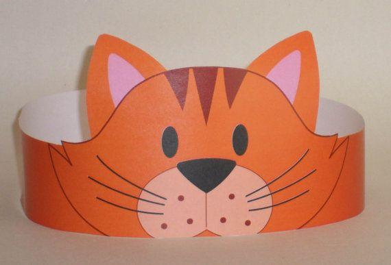 Cat Orange Crown Printable van PutACrownOnIt op Etsy, $2.00