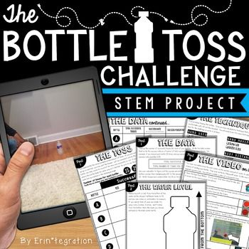 Water bottle flip at school? Absolutely! Students will love this on-trend STEM challenge inspired by the popular YouTube water bottle flipping challenge where students toss a water bottle and attempt to land it straight up. Practice scientific method with some probability, fractions and data collection in the mix while having fun! This self-paced, 3 part water bottle flip STEM challenge is print-and-go.