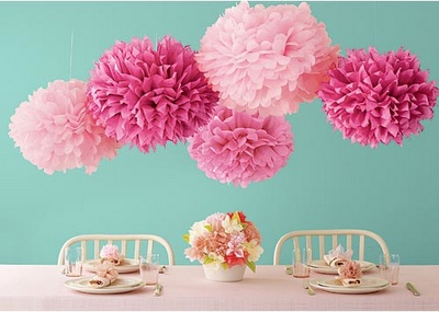 Como hacer pompones de papel: Birthday Parties, Paper Pom Pom, Pompom, Paper Flowers, Tissue Paper Pom, Martha Stewart Crafts, Parties Ideas, Tissue Pom Pom, Baby Shower